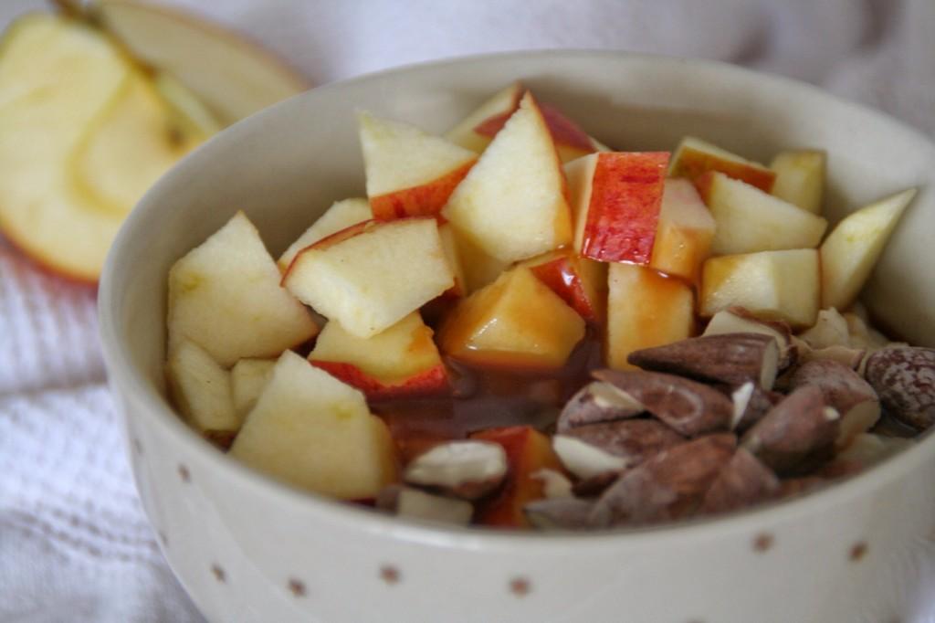 Luksusgrød med æble og karamel