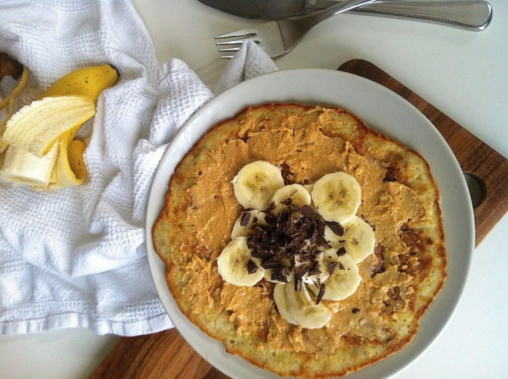 Giga bananpandekage på en mandag morgen