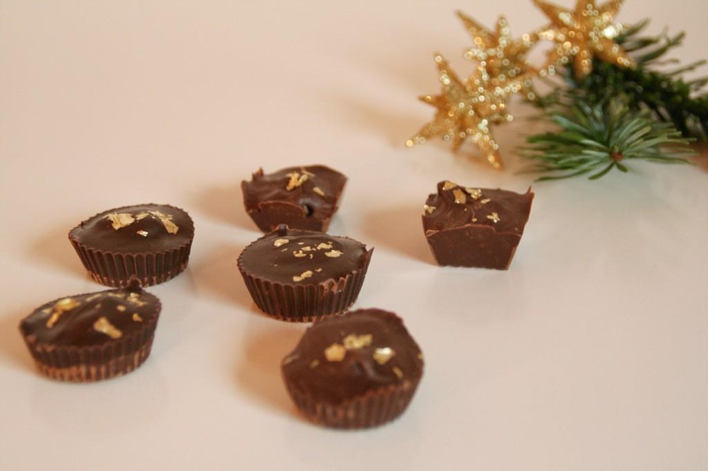 Chokoladekonfekt med nougat