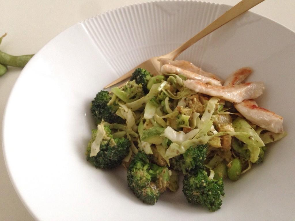 Grøn supersalat med kylling