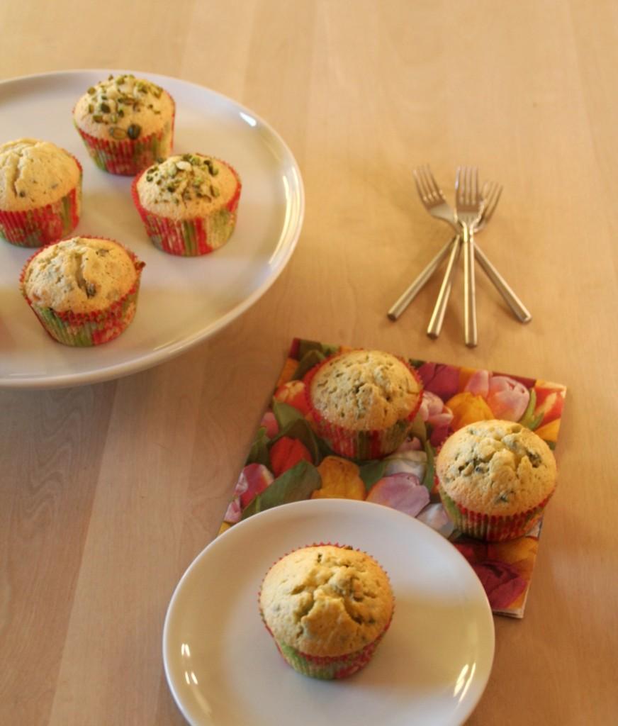 Forårsmuffins med citron og pistacie