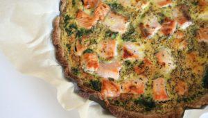Lækker laksetærte med spinat